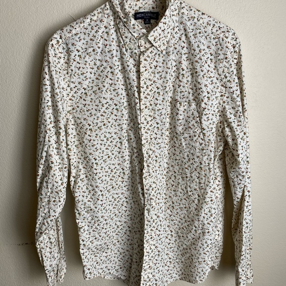 A floral print shirt from J. Crew M